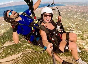 paragliding tandem flight crete